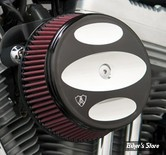 - FILTRE A AIR - ARLEN NESS - BIG SUCKER AIR FILTER KIT AVEC COUVERCLE - STAGE 1 - TOURING 02/07 / SOFTAIL 01/15 / DYNA 04/17 / TWINCAM CARBU CV 99/06 - FILTRE STANDARD - SCALLOPED NOIR - 18-836