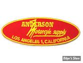 "ECUSSON/PATCH - V-TWIN - ANDERSON SUPPLY - TAILLE : 3.3"" X 1.1"" ( 8.40 CM X 2.80 CM ) - LA PAIRE"