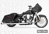 ECHAPPEMENT FREEDOM PERFORMANCE - AMERICAN OUTLAW DUAL - 2EN2 - TOURING 95/08 - CORPS : CHROME / SORTIE : NOIR