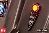CLIGNOTANTS - BATTISTINIS CUSTOM CYCLES - LED - ARRIERE - ECLAIRAGE ORANGE - CABOCHON CLAIR - NOIR