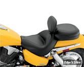 """SELLE MUSTANG - WIDE TOURING - AVEC DOSSERET CONDUCTEUR - HONDA VTX 1300 C 04/09 - LISSE - 17"""" X 12.5"""""""