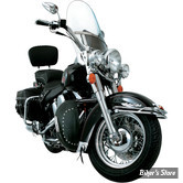 PROTEGES JAMBES DE PARE CYLINDRES / CHAPS - SOFTAIL FLST 00UP - LEADER MOTORCYCLE ACCESSORIES - DESERT DAWG - CLOUTES