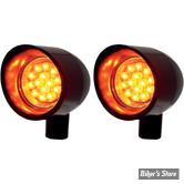 CLIGNOTANT A LEDS - LAZERSTAR LIGHTS - VIZOR LIGHT - LED - NOIR - ECLAIRAGE ORANGE