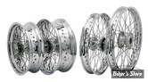 16 X 3.50 - 40R - ROUE ARRIERE EXCEL - VOILE : CHROME - RAYONS : CHROME