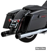 SILENCIEUX VANCE & HINES - HI OUTPUT SLIP ONS / CARBON - TOURING 95/16 - CHROME - EMBOUT CARBONE - 16465
