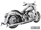"ECHAPPEMENT FREEDOM PERFORMANCE TRUE DUAL - SHARKTAIL - 36"" - SOFTAIL 07/17 - CHROME"