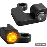 2 - CLIGNOS HEINZ BIKES - NANO SERIES LED TURN SIGNALS  - SPORTSTER 04/13 - 2 FONCTIONS - CORPS NOIR / CABOCHON FUME