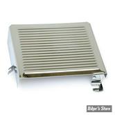 """Cache batterie - FL 65/E69 EARLY SHOVEL - OEM 66383-65 - chromé """" Ribbed """""""