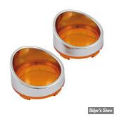 Casquettes de clignotants avec cabochon sans ampoules - Orange.