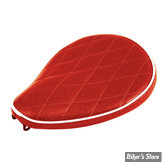SELLE SOLO UNIVERSELLE - LARGEUR 230MM - LE PERA - SOLO - METALFLAKE - ROUGE / CANDY RED DIAMOND - BIAIS BLANC