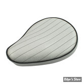 SELLE SOLO UNIVERSELLE - LARGEUR 230MM - LE PERA - SOLO - METALFLAKE - PEARL PLEATED - BIAIS NOIR