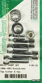 ECLATE J - PIECE N° 34 - KIT VISSERIE FIXATION MOTEUR CENTRALE - 86/03 XL - ALLEN CHROME
