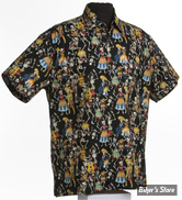 CHEMISE - HIGH SEAS - HAWAII DAY OF THE DEAD - COULEUR : NOIR - TAILLE XXL