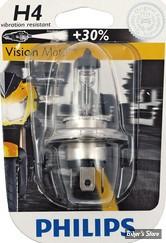 AMPOULE  H4 - 12V - CULOT : P43T - 12V - 60/55W - VISION MOTO - CLAIR - LA PIECE