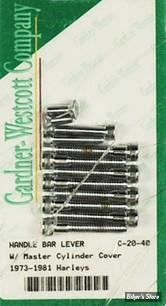 ECLATE L - PIECE N° 31 - Kit de visserie de commodos - BigTwin 72/81 / Sportster 73/81 - Chrome