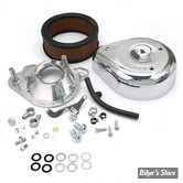 SS - KIT FILTRE A AIR SS - TEARDROP - BIG TWIN 93/99 / SPORTSTER 91/03 - AVEC CARBURATEUR S&S E OU G - CHROME