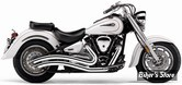 ECHAPPEMENT COBRA - SPEEDSTER SWEPT - YAMAHA XV 1600 / 1700 WILD STAR & ROAD STAR 99/07 - CHROME