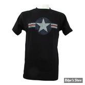 TEE-SHIRT - FOSTEX - AIR FORCE STARS & BARS - COULEUR : NOIR