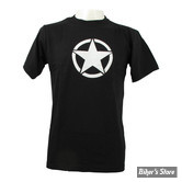 TEE-SHIRT - FOSTEX - VINTAGE - WHITE STAR - COULEUR : NOIR