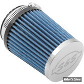 - FILTRE A AIR - S&S - SINGLE BORE TUNED INDUCTION SYSTEM : FILTRE BLEU