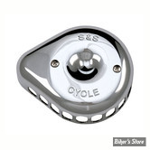 - FILTRE A AIR - S&S - STEALTH S&S SUPERSTOCK : Couvercle MINI TEARDROP - Chrome - 170-0367