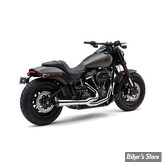 ECHAPPEMENT - COBRA - SOFTAIL 18UP FLFB/S / FXBR/S - EL DIABLO 2 EN 1 - CHROME -