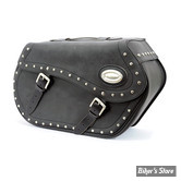 SACOCHES LATERALES - LONGRIDE MOTORCYCLESBAGS - #153 - 43 LITRES - NOIR - MATIERE : IPAREX / STUDDED - HC-153