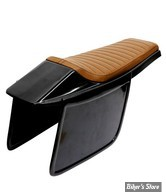 COQUE ARRIERE - UNIVERSELLE - C-RACER - FLAT TRACK  / FLAT RACER SEAT - SCR4 - CUIR SYNTHETIQUE - SELLE : MARRON