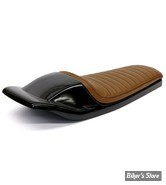 COQUE ARRIERE - UNIVERSELLE - C-RACER - FLAT TRACK  /  BOLNTOR RACER SEAT - SCR5 - CUIR SYNTHETIQUE - SELLE : MARRON