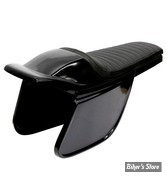COQUE ARRIERE - UNIVERSELLE - C-RACER - FLAT TRACK  /  BOLNTOR RACER SEAT - SCR5.1 - CUIR SYNTHETIQUE - SELLE : NOIR