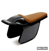 COQUE ARRIERE - UNIVERSELLE - C-RACER - FLAT TRACK  /  BOLNTOR RACER SEAT - SCR5.1 - CUIR SYNTHETIQUE - SELLE : MARRON