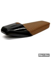 COQUE ARRIERE - UNIVERSELLE - C-RACER - CAFE RACER -  LATE CLASSIC - SCR7.8 - CUIR SYNTHETIQUE - SELLE : MARRON