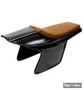 COQUE ARRIERE - UNIVERSELLE - C-RACER - FLAT TRACK RACER - SCR14.1- CUIR SYNTHETIQUE - SELLE : MARRON