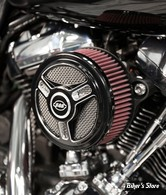 - FILTRE A AIR - S&S - MILWAUKEE EIGHT TOURING 17UP / SOFTAIL 18UP - STEALTH - TRI-SPOKE AIR CLEANER KIT - NOIR CONTRAST -