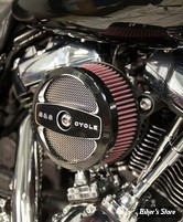 - FILTRE A AIR - S&S - MILWAUKEE EIGHT TOURING 17UP / SOFTAIL 18UP - STEALTH  - AIR 1 CLEANER KIT - NOIR CONTRAST - 170-0394A