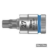 "DOUILLE EMBOUT TORX -TX27 - CARRE DE 1/4"" - WERA - TORX® HF Zyklop - 8767 A HF - 05003367001"