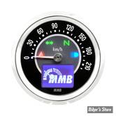 - MINI COMPTEUR ELECTRONIQUE MMB - ELT48 TARGET GENERATION 2 - EN KM/H - 220 KM/H - FOND NOIR - CORPS CHROME - RÉTRO-ÉCLAIRAGE