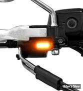 1 - CLIGNOS ZIEGLER - BELOW BAR LED - HD EMBRAYAGE HYDRAULIQUE 09/17 - 1 FONCTION CLIGNOTANT - TAILLE : # 2 - NOIR