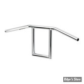 Guidon Biltwell Window chrome - AVEC EMPREINTES / SLOTTED - 6006-1056