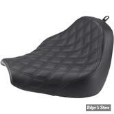 SELLE SOLO - SOFTAIL FXBR/S 18UP - SADDLEMEN - Renegade Lattice Stitch Solo Seat - NOIR - 818-31-002LS