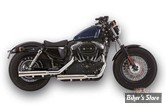 SILENCIEUX FALCON CUSTOM PARTS - SPORTSTER 06/13 - DOUBLE GROOVE - INOX POLI