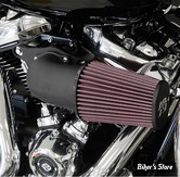 - FILTRE A AIR - K&N -  MILWAUKEE EIGHT TOURING 17UP / SOFTAIL 18UP - K&N AIRCHARGER PERFORMANCE AIR INTAKE KIT - NOIR WRINKLE - 63-1138