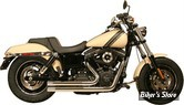 ECHAPPEMENT RUSH - FULL SYSTEM - SHORT STYLE - DYNA 91/05 - STRAIGHT CUT - CHROME