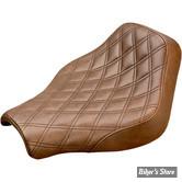 SELLE SOLO - SOFTAIL FLHC / FLHCS / FLSL / FXBB / FLDE 18UP - SADDLEMEN - RENEGADE-LS SOLO SEATS - MARRON