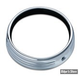 7 - CERCLAGE FRENCHÉ - KURYAKYN - TOURING 14UP - HALO TRIM RING UNLIT- CORPS : CHROME - 6915
