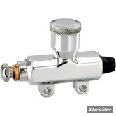 MAITRE CYLINDRE ARRIERE - DRAG SPECIALTIES - SOLO CUSTOM MINI REAR MASTER CYLINDERS - CHROME