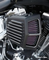 - FILTRE A AIR - K&N - STREET METAL - THE SHAKER AIR INTAKE SYSTEME - TOURING 08/16 / SOFTAIL 16/17 / DYNA FXDLS 16/17 - NOIR SATIN - RK-3951