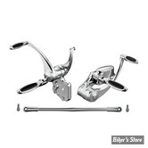 "COMMANDES AVANCEES - SOFTAIL 86/99 - REBUFFINI - ELLIPSE - CHROME - +1"" - SANS TUV"