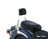 SISSY BAR - COBRA - HONDA VT 750 SHADOW SPIRIT 01/07 - SQUARE - HAUTEUR : SHORT - CHROME
