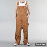 SALOPETTE - DICKIES - BIB OVERALL DUCK - MARRON CLAIR  - TAILLE US 32/32